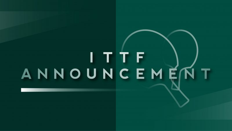 ITTF publishes COVID-19  Recommendations